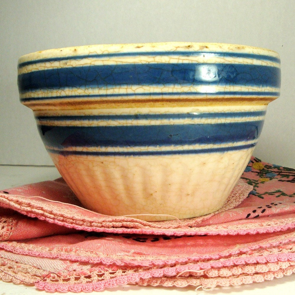 old crock bowl ringware mixing bowl
