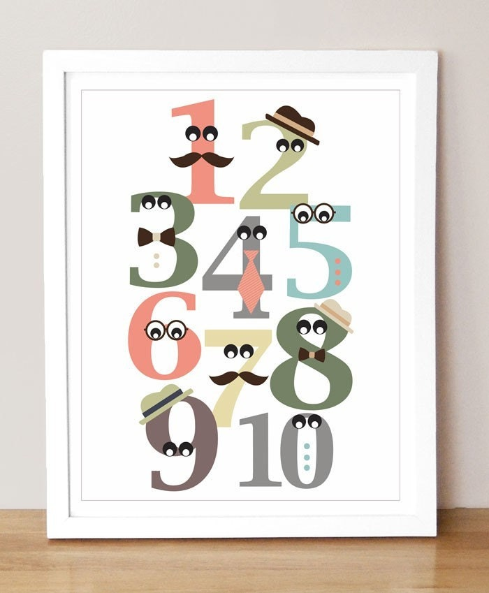 Mister Numbers - 11 x 14 Numbers Print