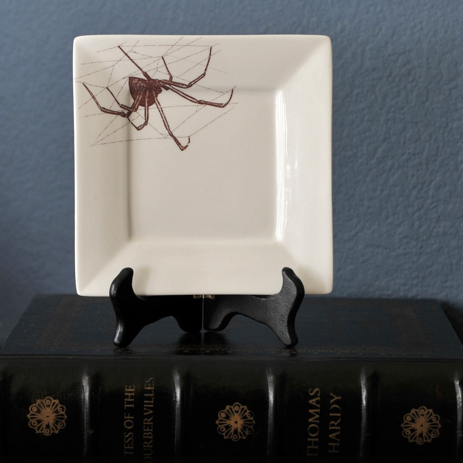 Black Widow Spider Square Dinner Plate or Platter
