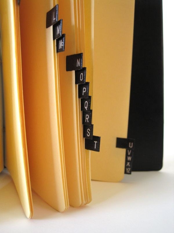 Ring binder alphabetical organizer by wavesong on etsy