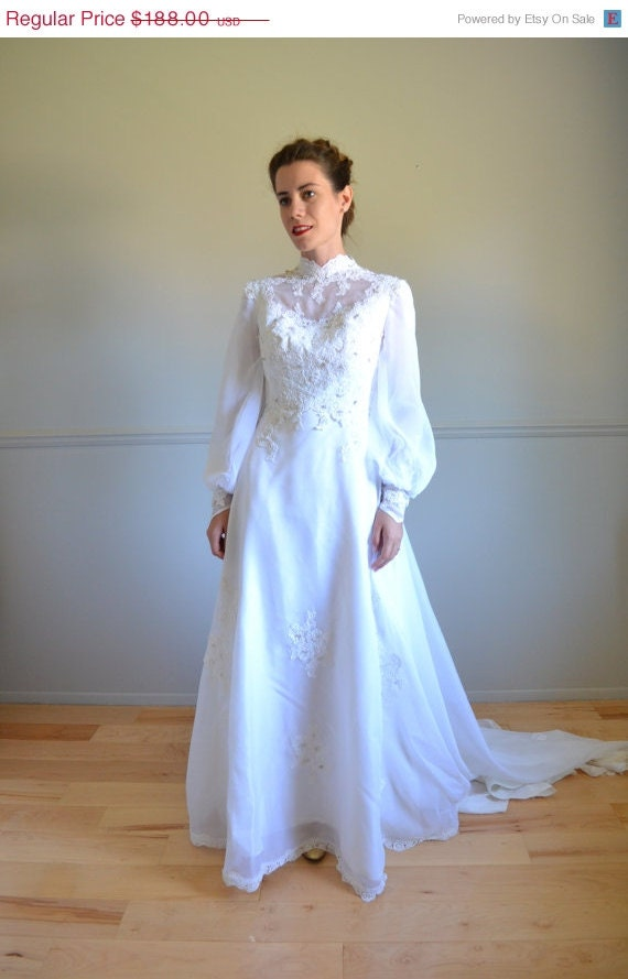 Sale 40 off 70s wedding dress 1970s wedding dress lacy for 1970s wedding dresses for sale