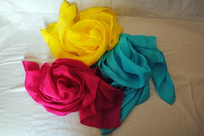 Set of 3 - 33x34inch playsilks