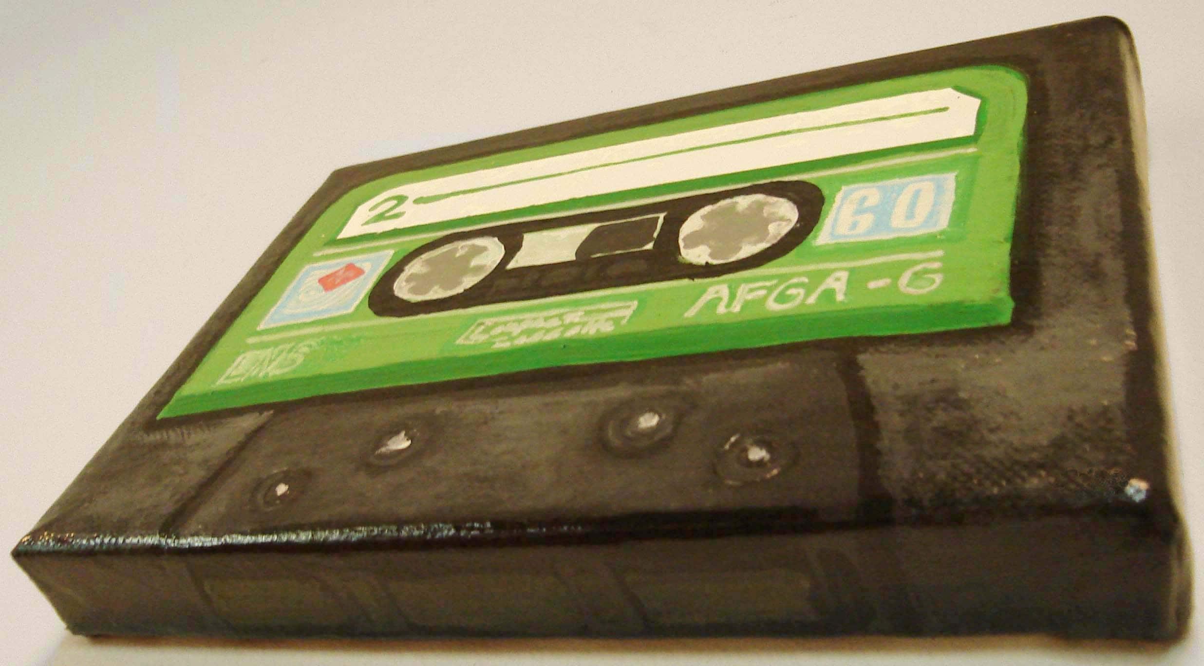 Tape Cassette Rockin' 3D Painting
