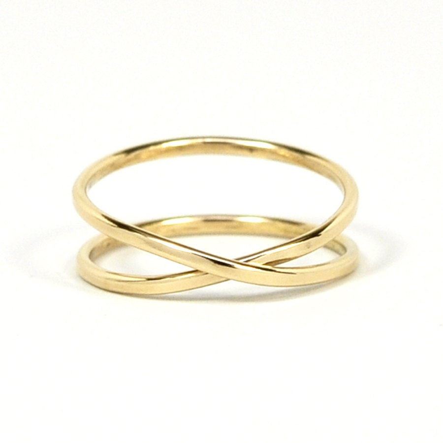 items similar to solid gold infinity ring 14k recycled