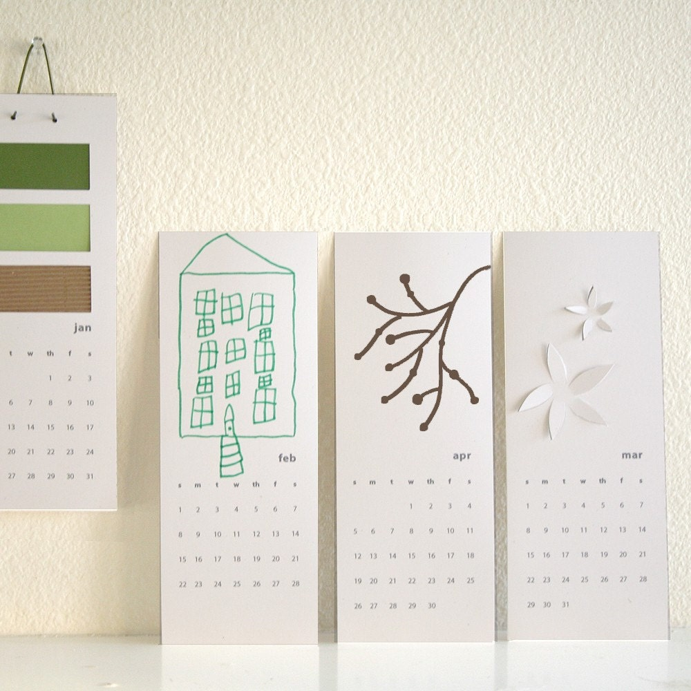 2009 blank calendar - decorate your own