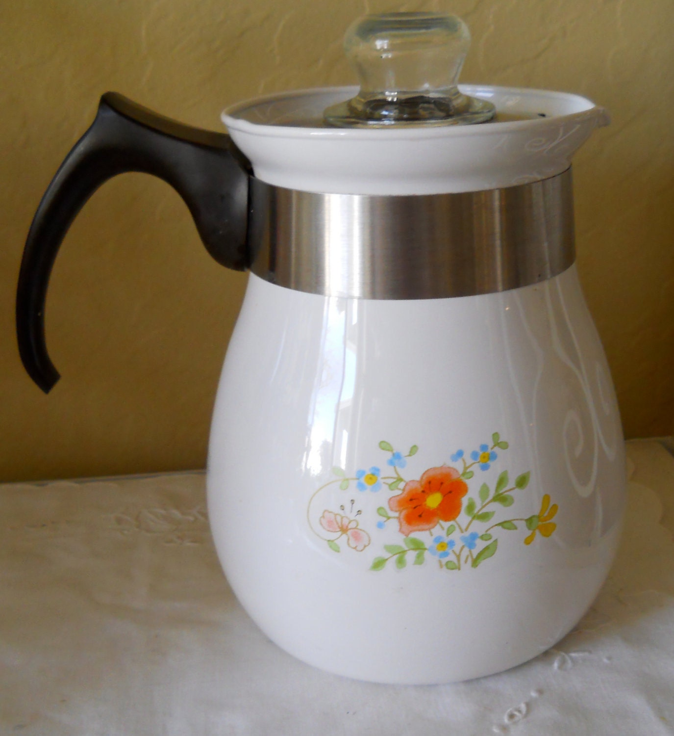 Corning Ware Coffee Percolator Pot by cyndalees on Etsy