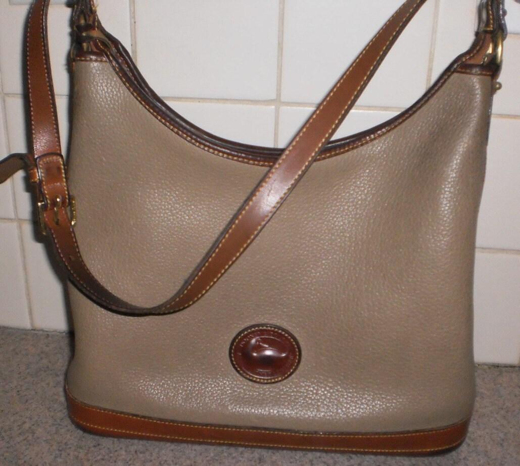 Authentic Dooney Bourke All Weather Leather shoulder purse satchel