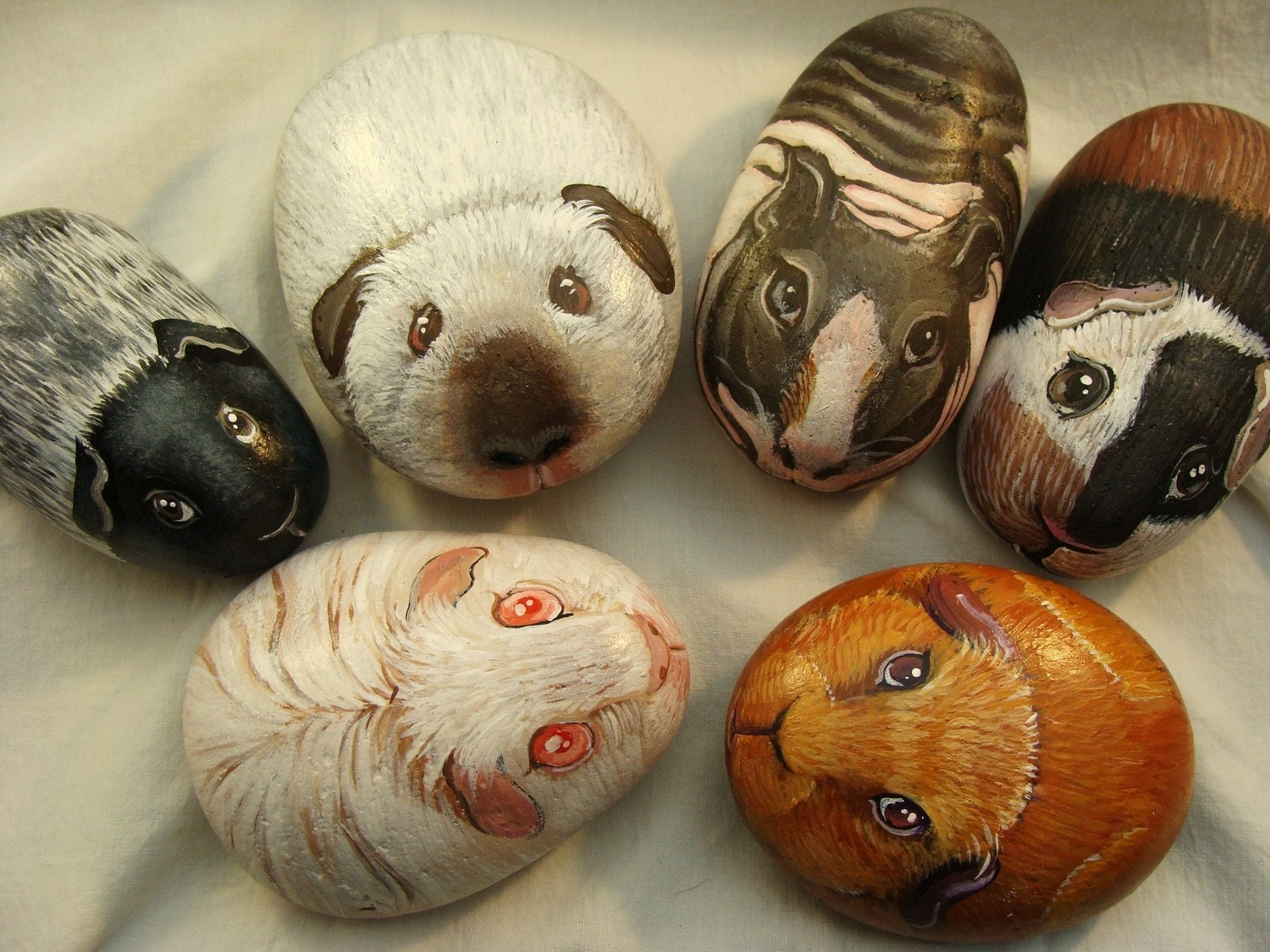 Hand Painted Rocks    Custom  Animals