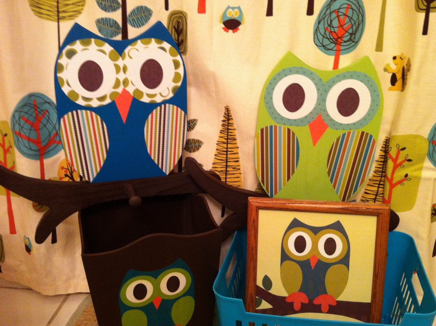 Owl Bathroom Collection Owl Bathroom Collection Includes Woodland Waste By  TheWoodenOwl