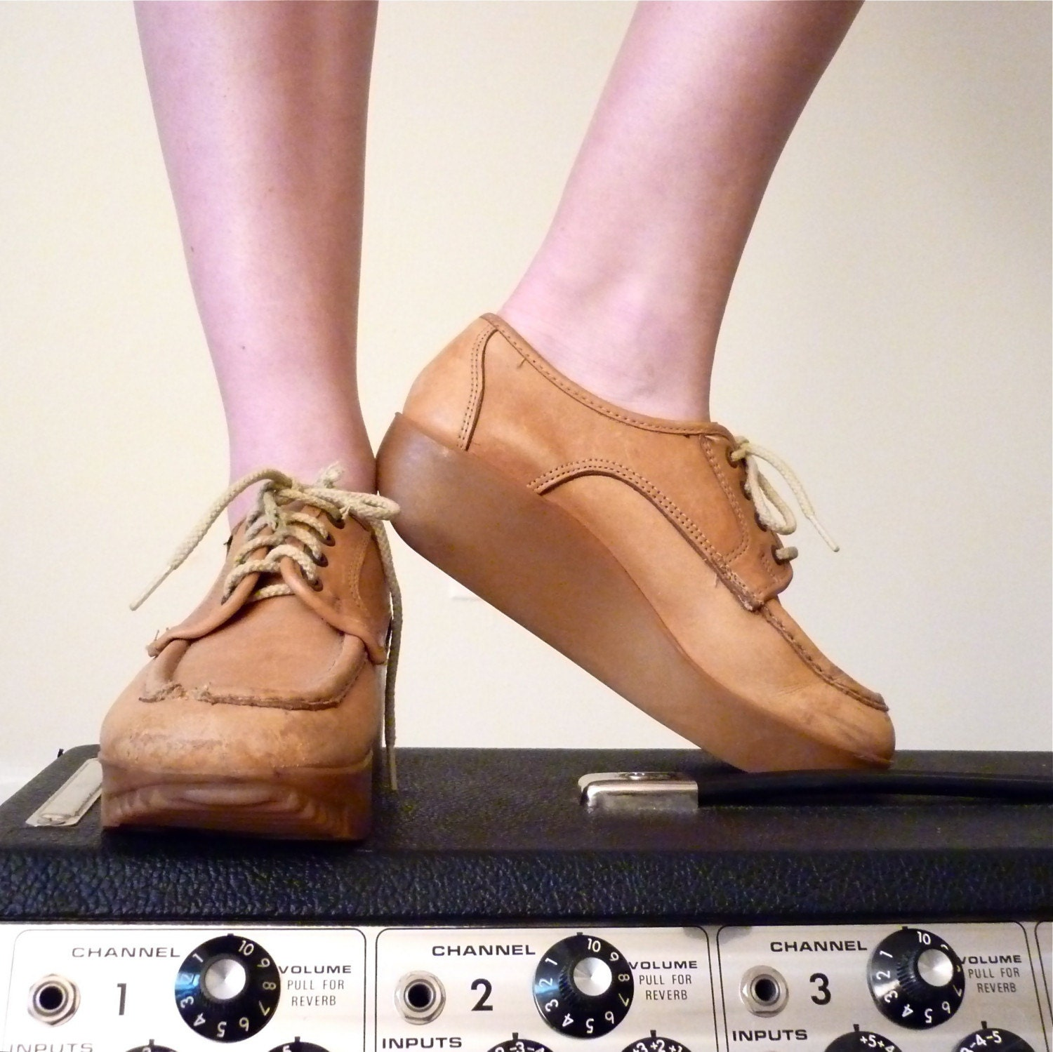 Caramel Lace Up Bass Shoes