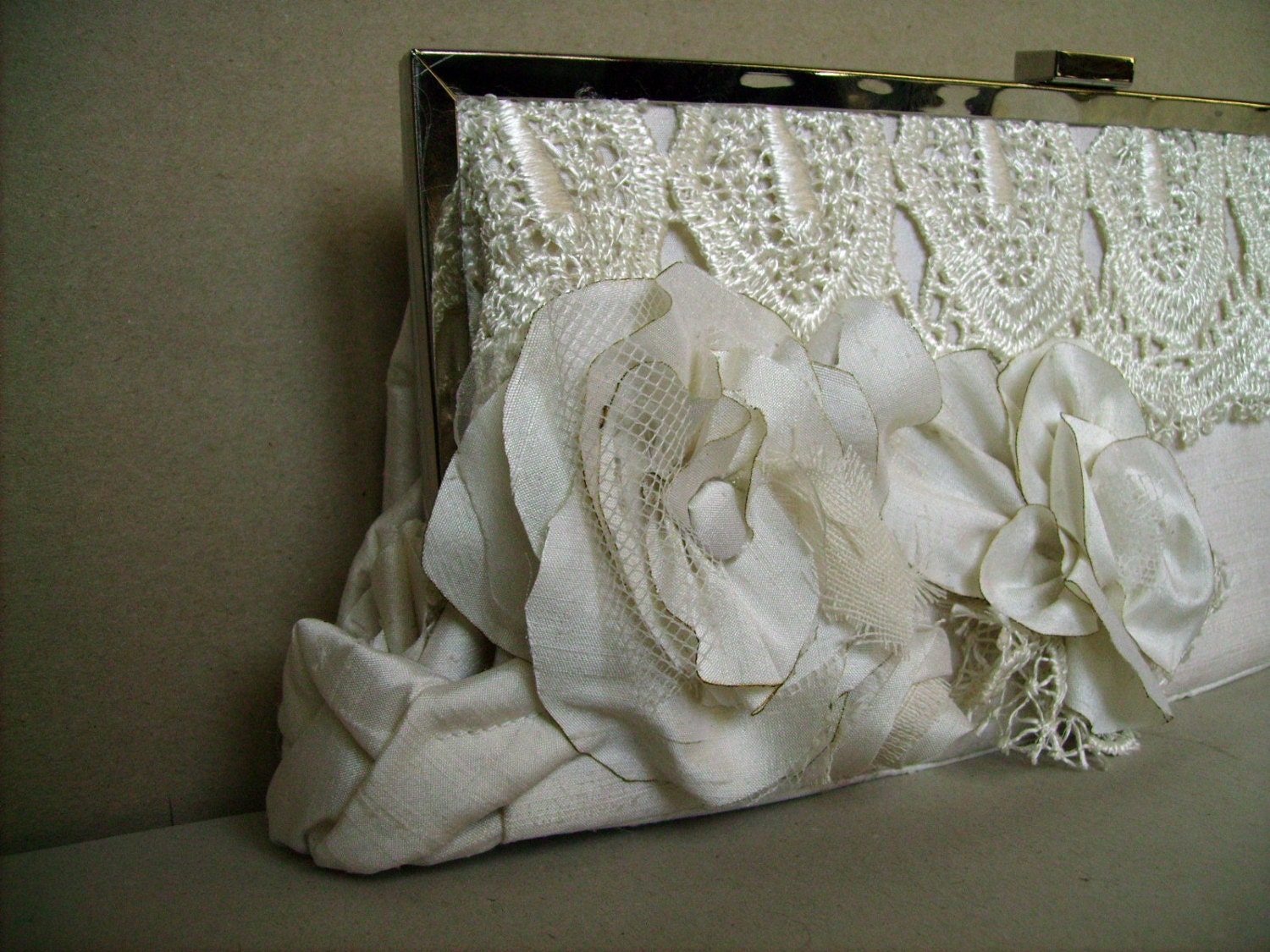 Small white bag ,wedding ,bag , - agnieszkamalik