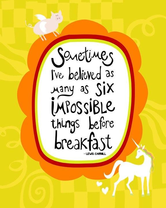 Six Impossibilities - 8x10