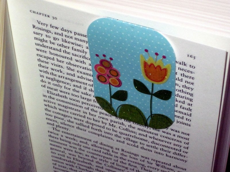 Spring Garden Magnetic Bookmark