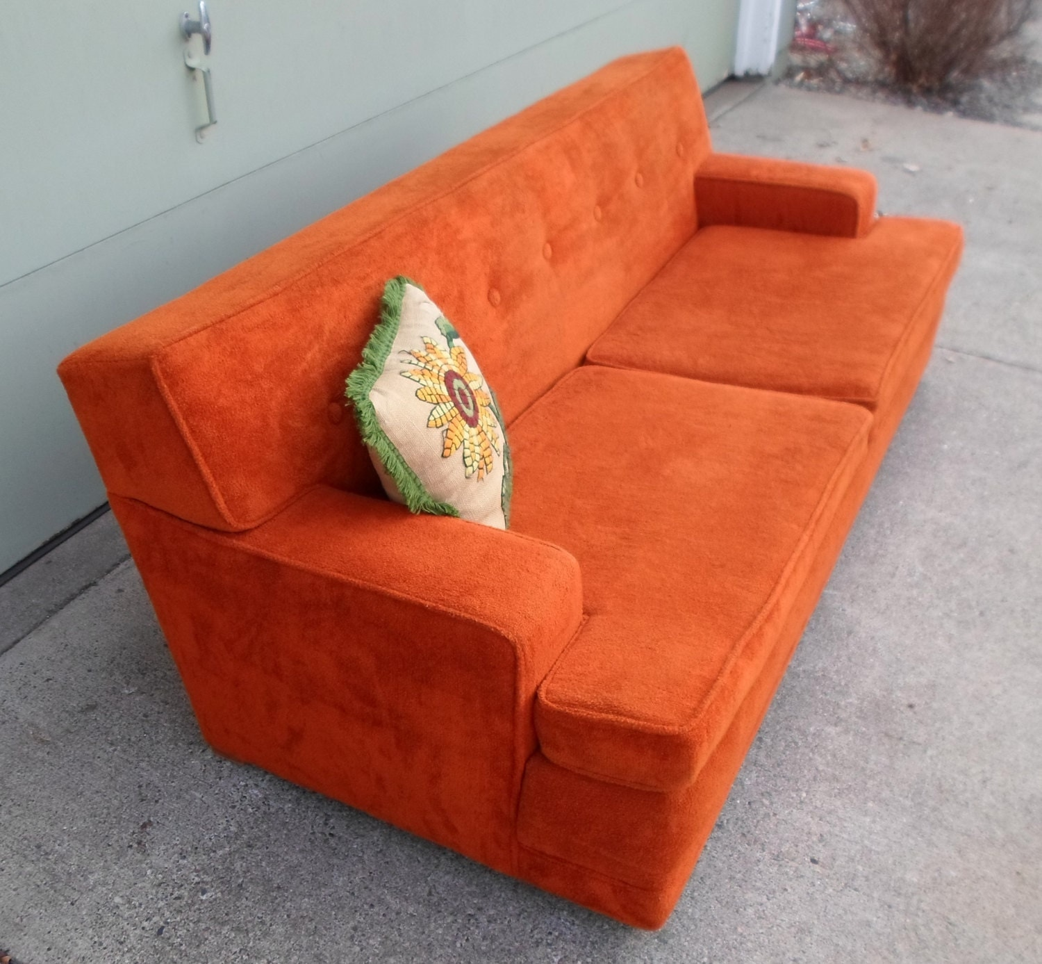 Vintage 1960S Orange Flexsteel Sofa Couch by  : ilfullxfull456861642t493 from www.etsy.com size 1500 x 1387 jpeg 383kB