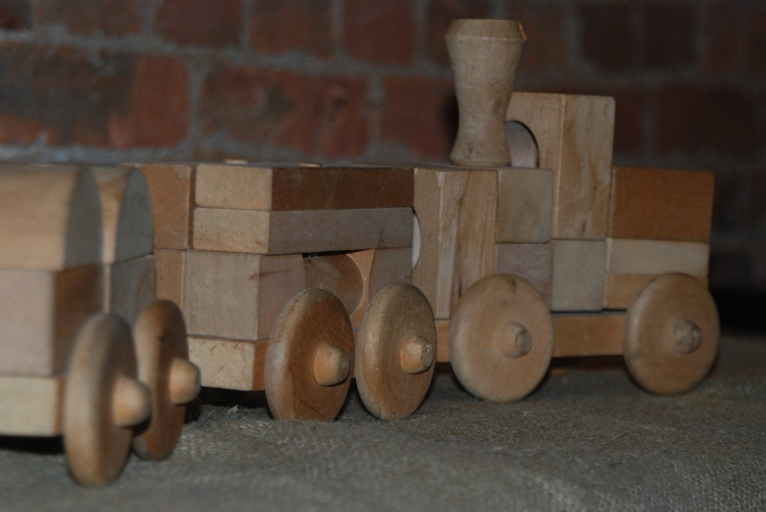 Vintage  Wooden Train Set