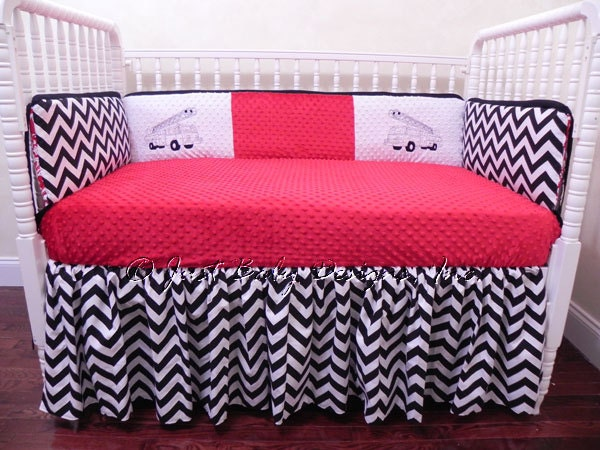 Custom Crib Bedding Set Black And White By BabyBeddingbyJBD