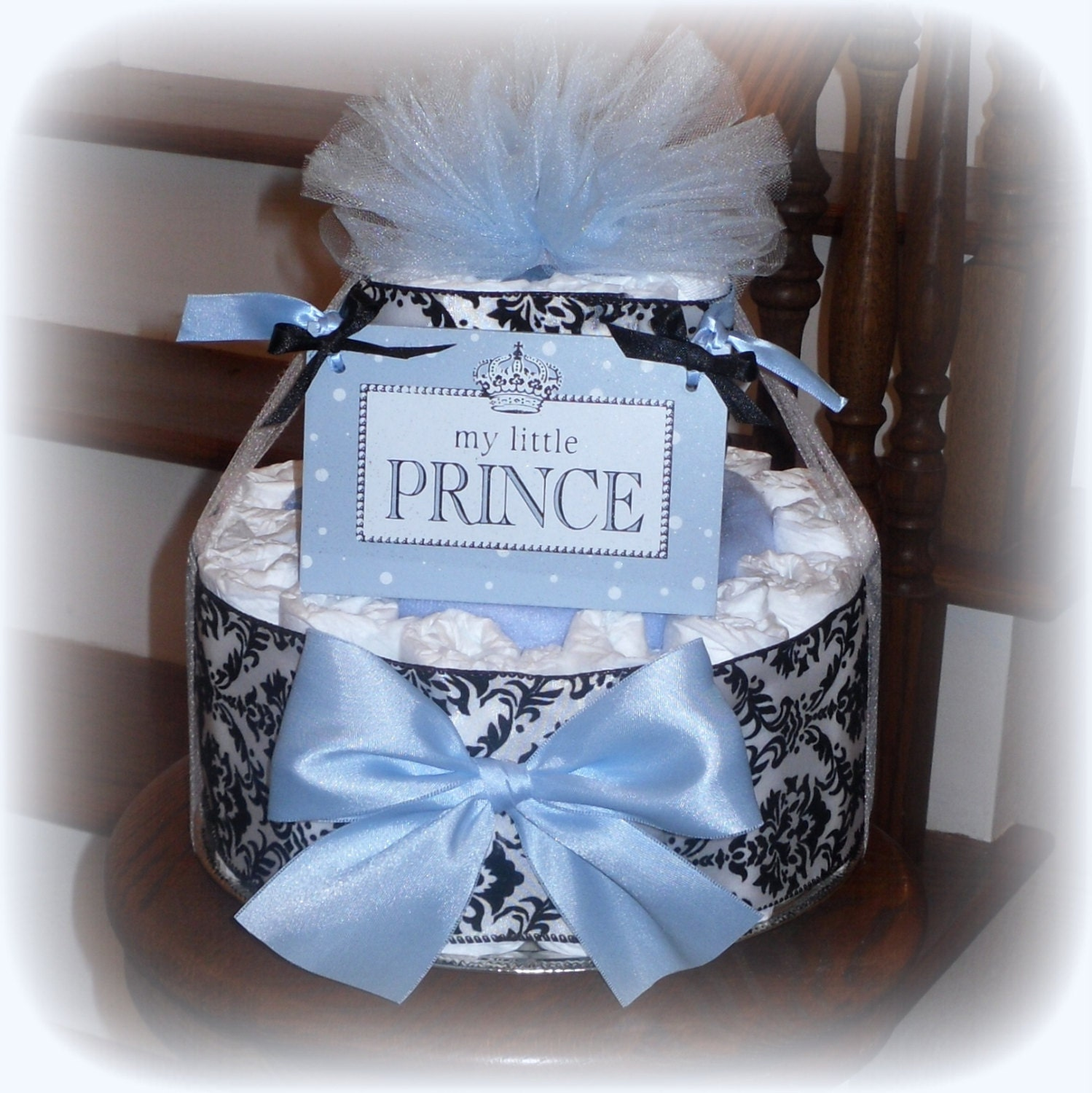 My Little Prince Diaper Cake Baby Shower by RachelsKidsBoutique