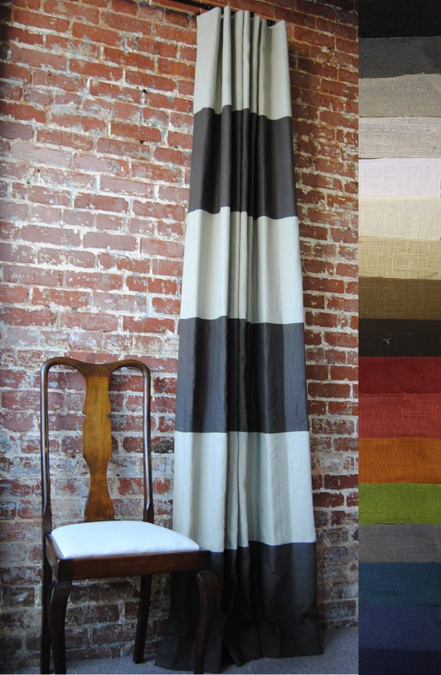 "96"" Pick Your Colors Striped Drapery Panel - Custom"