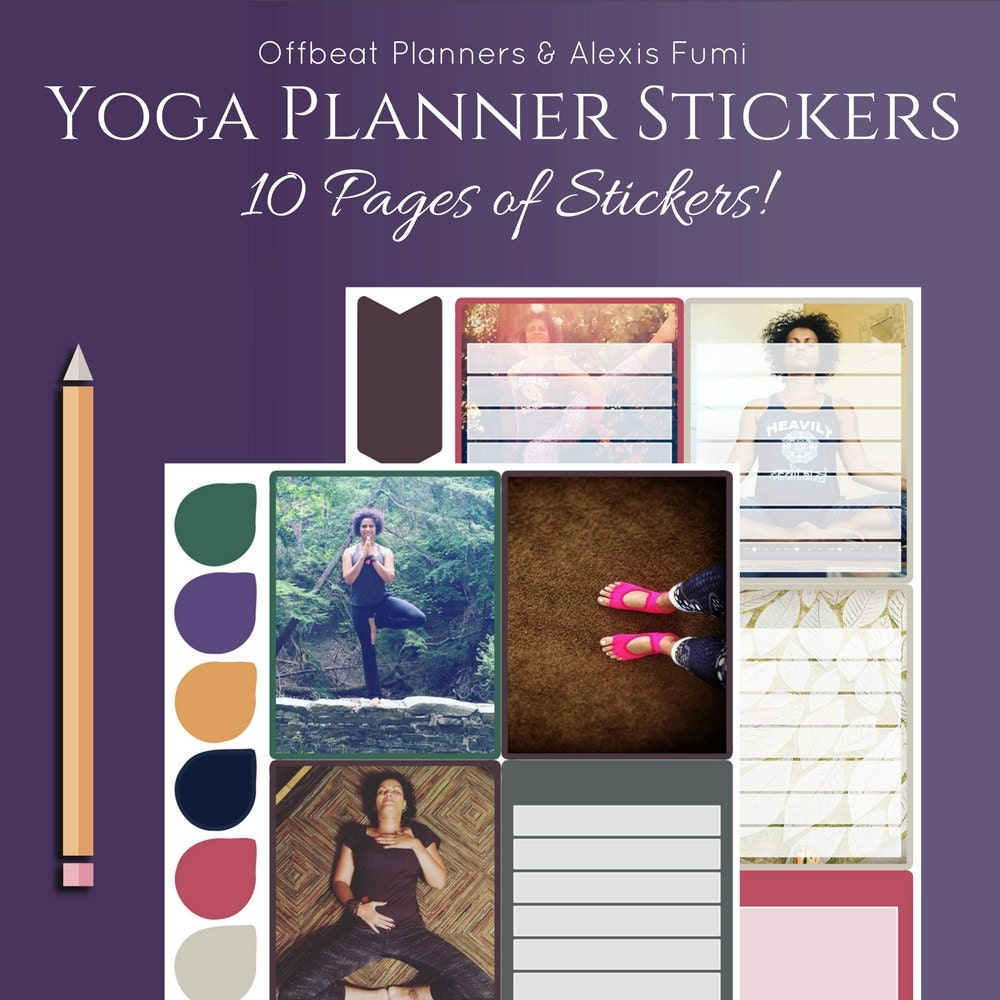 Yoga Planner Stickers Ultimate Weekly Sticker kit Yoga
