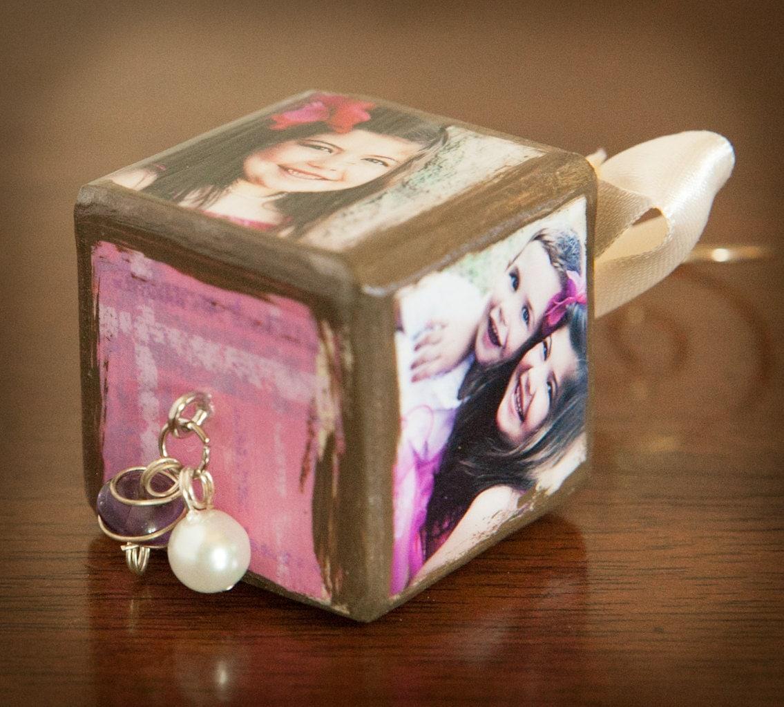 "1.5"" Cube Custom Photo Ornament"