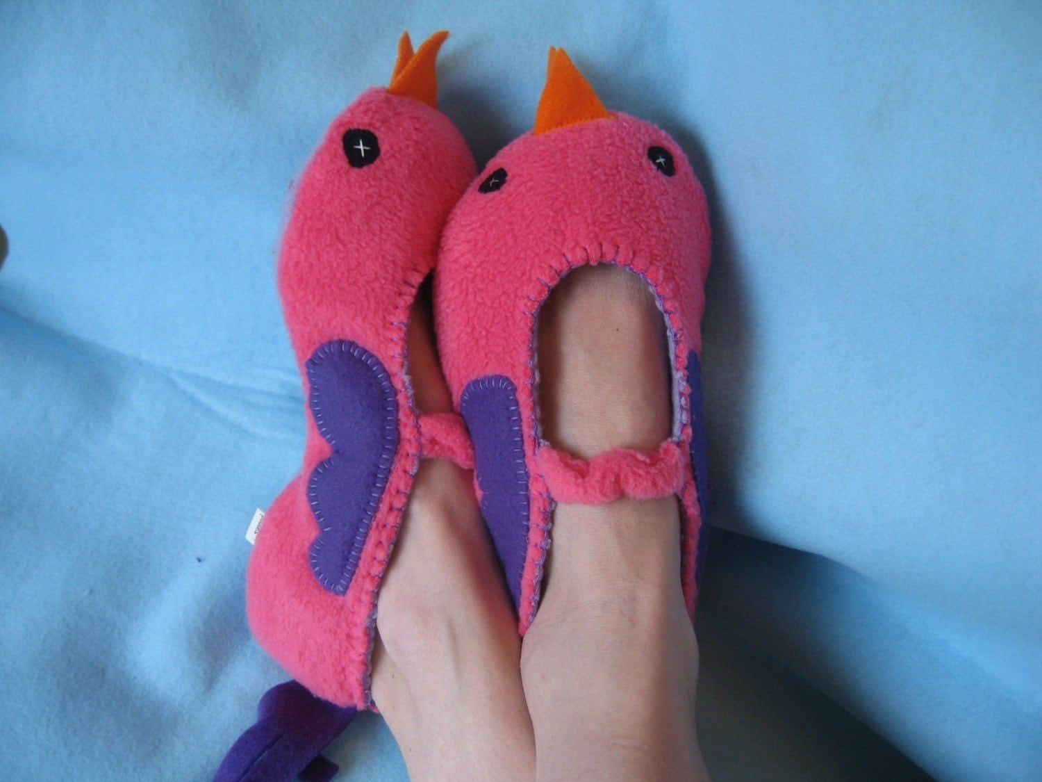 Adult Pink Bird Slippers