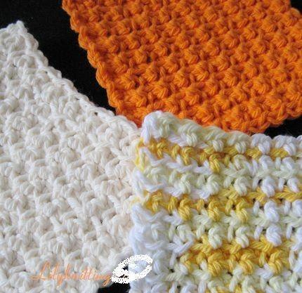 Debs Crochet: Hexagon Dishcloth / Washcloth Free Crochet Pattern