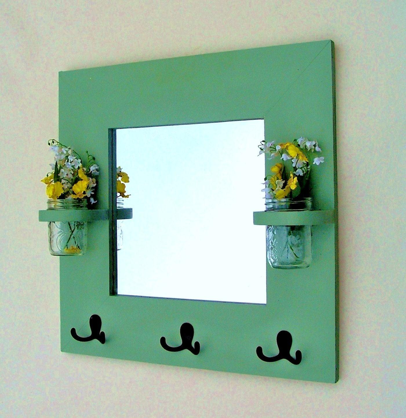 "Espelho - Brasão Rack - rack chave - Vasos Jar - 20 ""x 20"""
