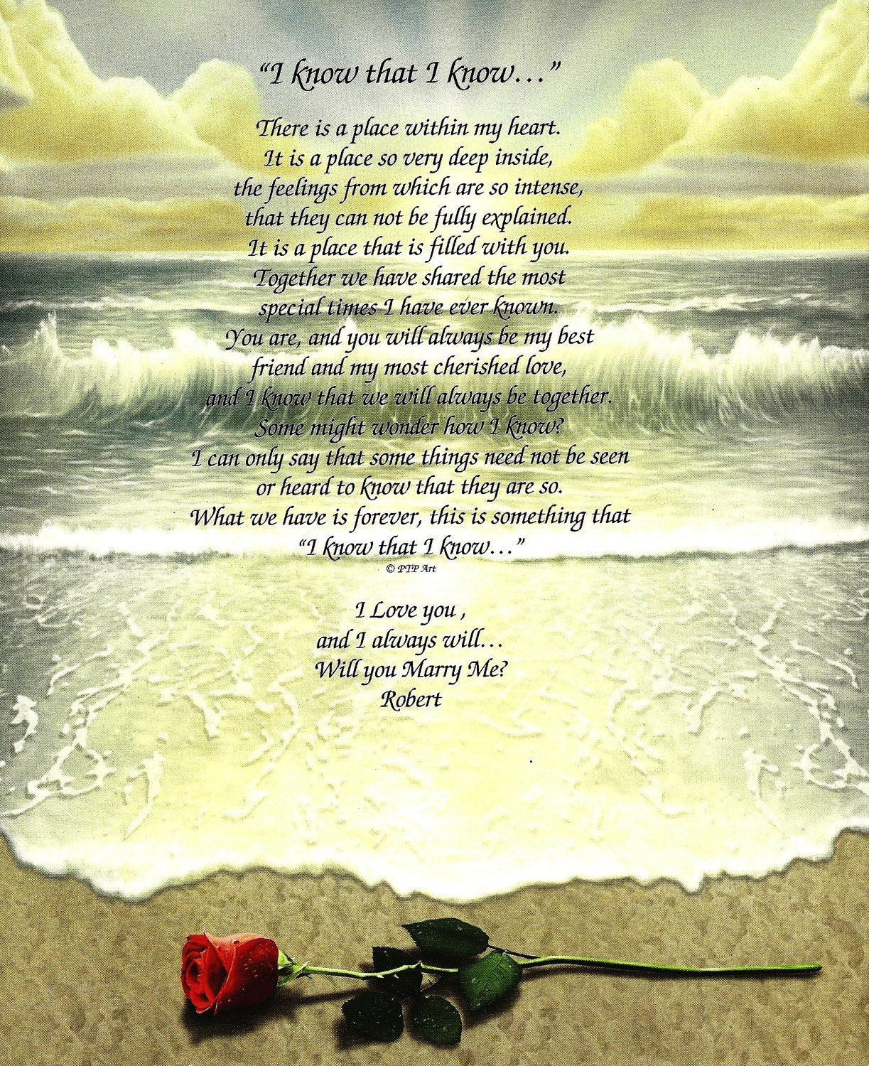 Items Similar To Marriage Proposal Poem On Beach Design On Etsy