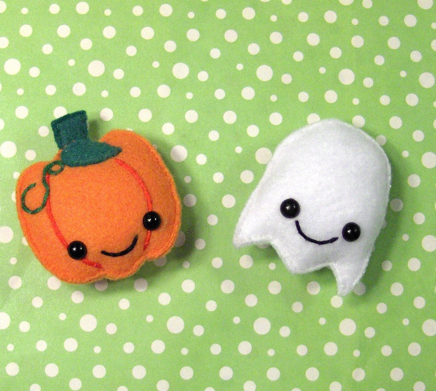 Spooky Friends Pumpkin and Ghost Magnets