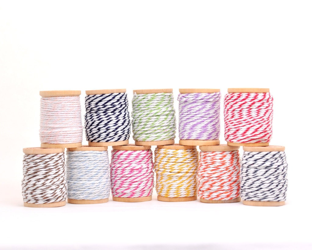 Bakers Twine 10 yards - Select 1 Colour Only (No wooden spool)
