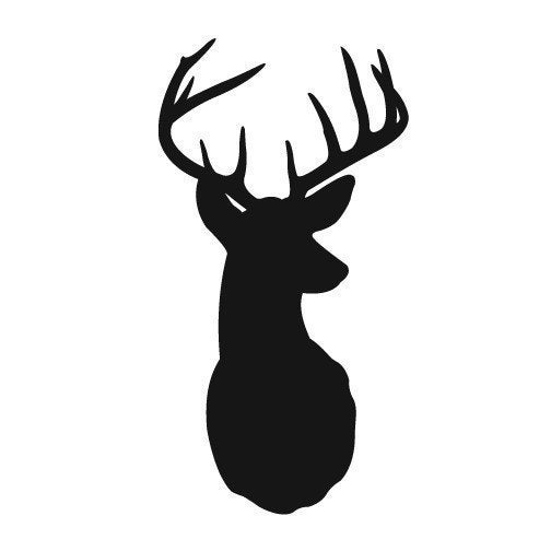 Deer with Antlers - vinyl wall decals graphic stickers
