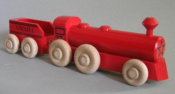 Big Boy Train Toys : Red big boy wooden toy locomotive by aero toys on etsy