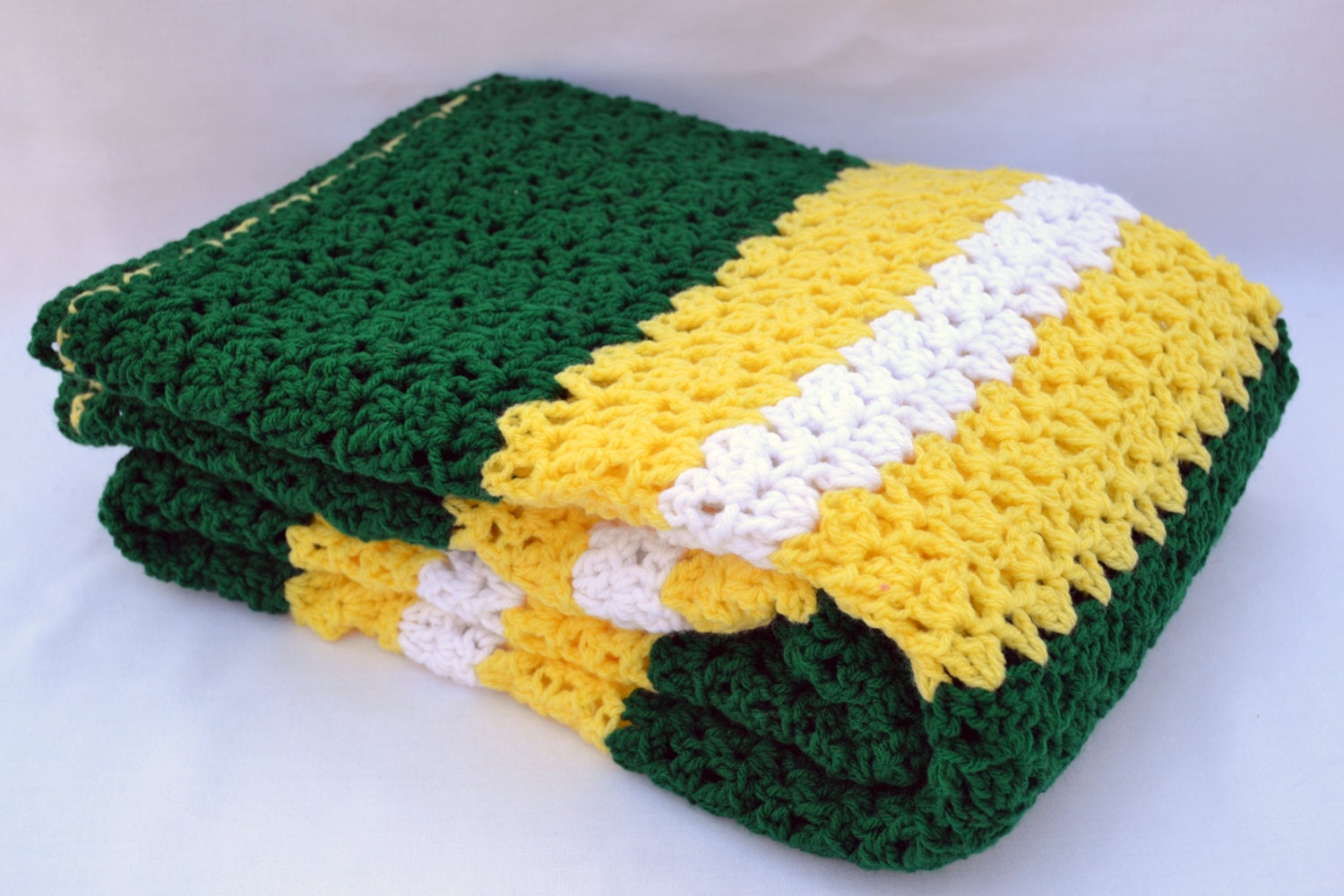 Crochet Pattern For Sports Blanket : Oregon ducks fan inspired crochet blanket afghan by ...