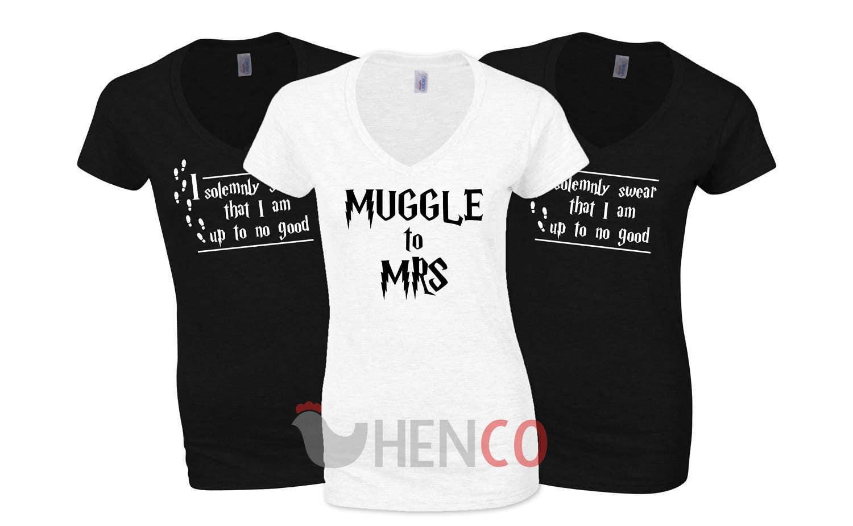 Harry Potter Bride TShirt Set Hen Party TShirt Set I Solemnly Swear Wedding TShirts Bridesmaid TShirts Bridal Party TShirts  Wedding
