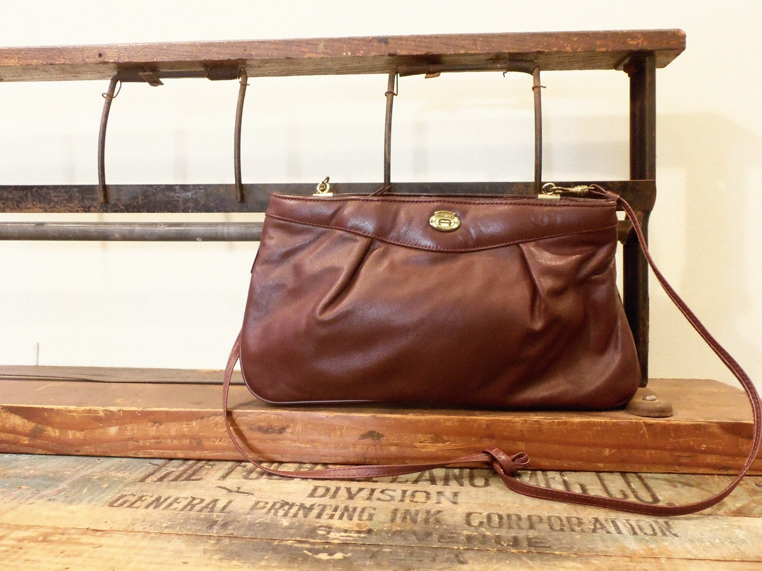 Vintage Etienne Aigner Clutch / Oxblood Purse - FarmsteadVintage
