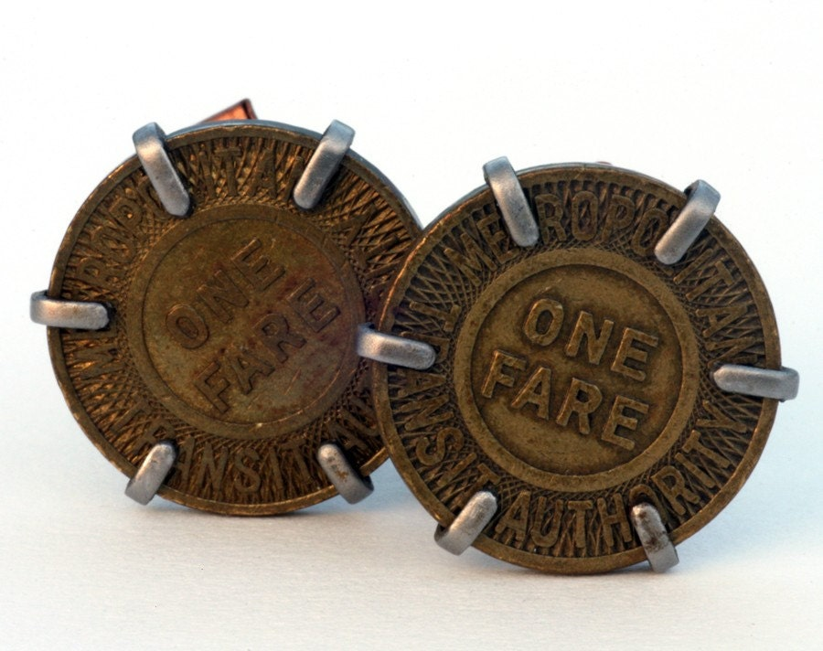 MTA (Boston) Token Cufflinks