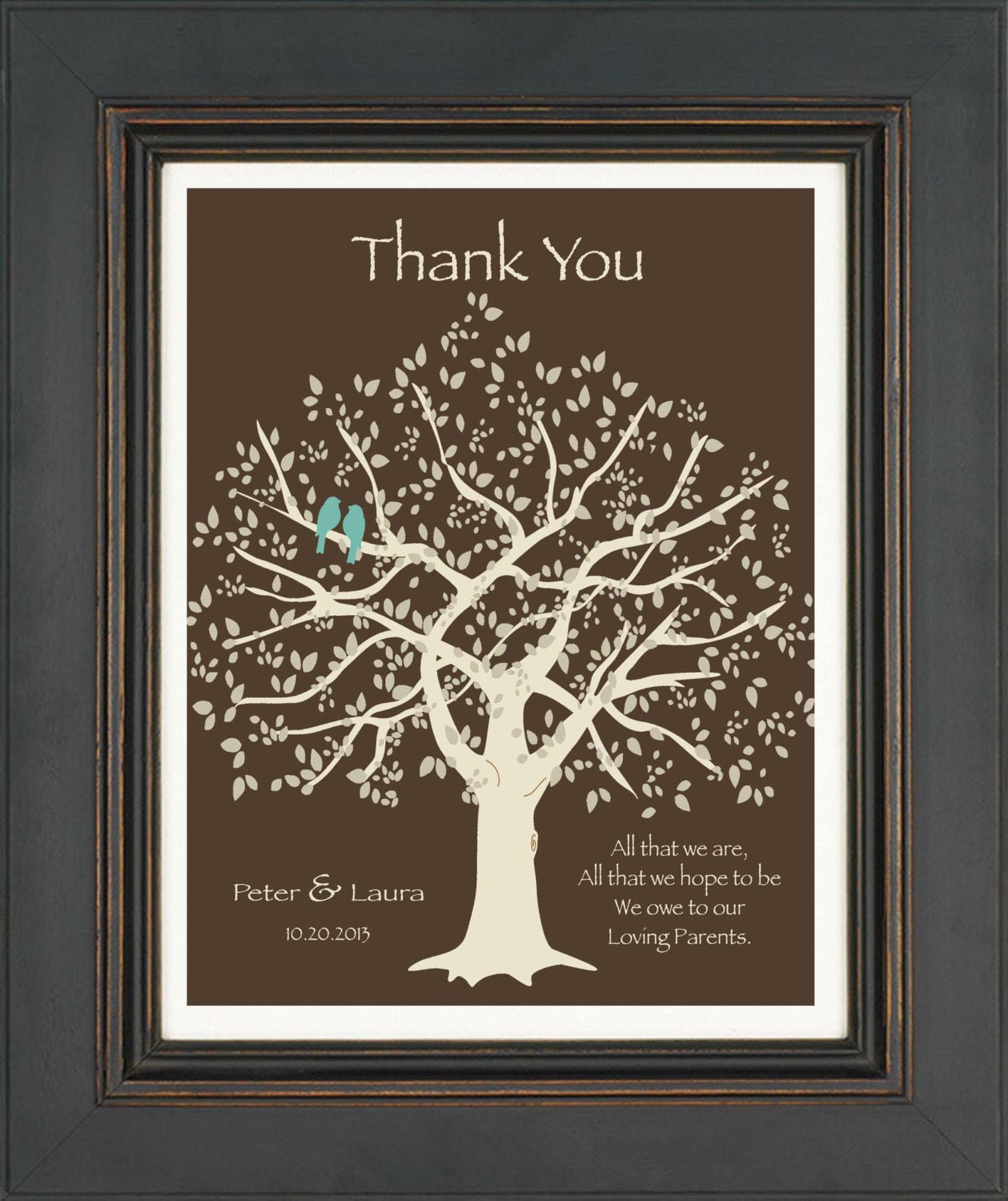 Wedding Gift for Parents from Bride and Groom- Thank you gift for ...