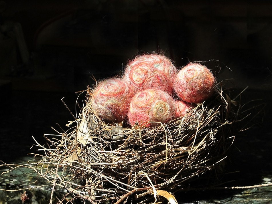 Nest of Felted Spheres