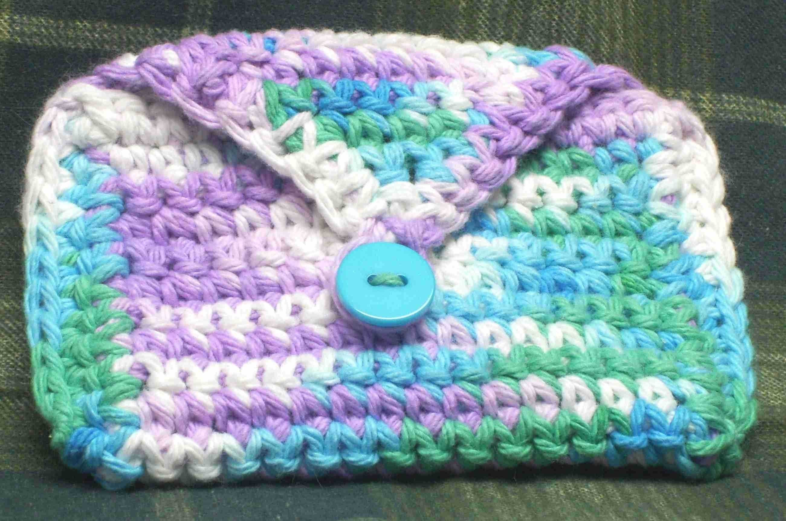Knitting Dragonflies: Crochet change purse pattern, tutorial and