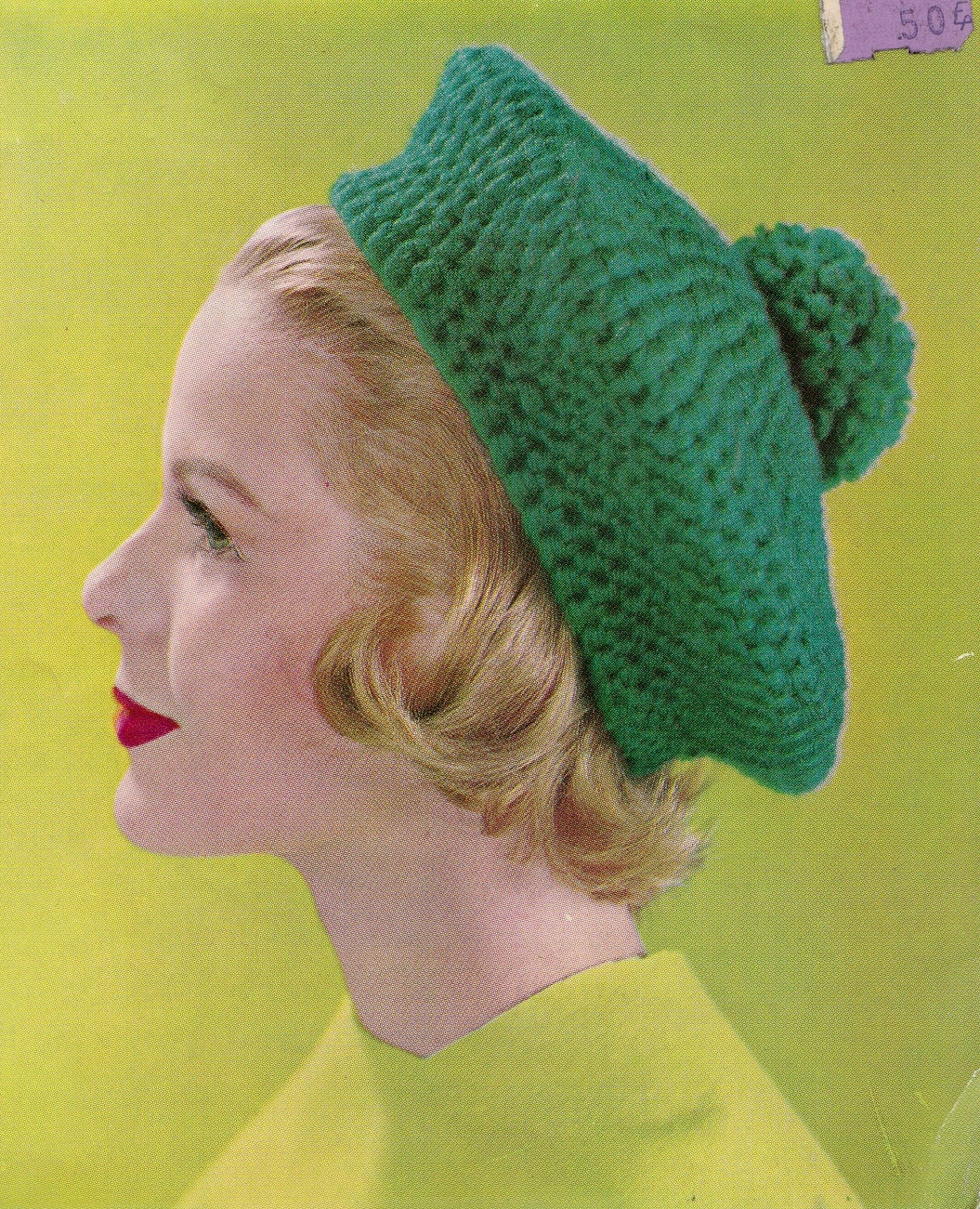 Knitting Pattern For Womens Beret : Crochet Womens Beret 1960s Vintage Knitting PDF by padurns