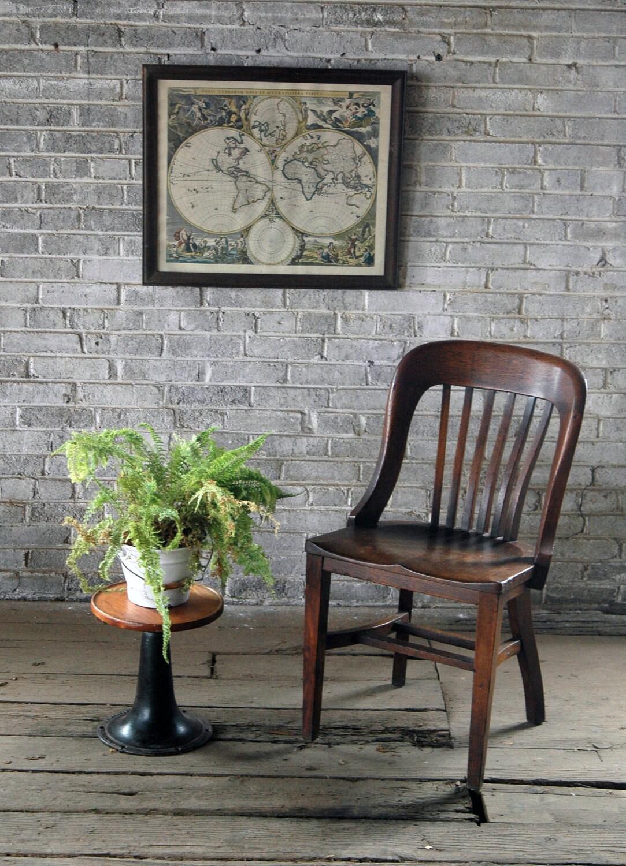 Vintage oak banker s chair by territoryhardgoods on etsy