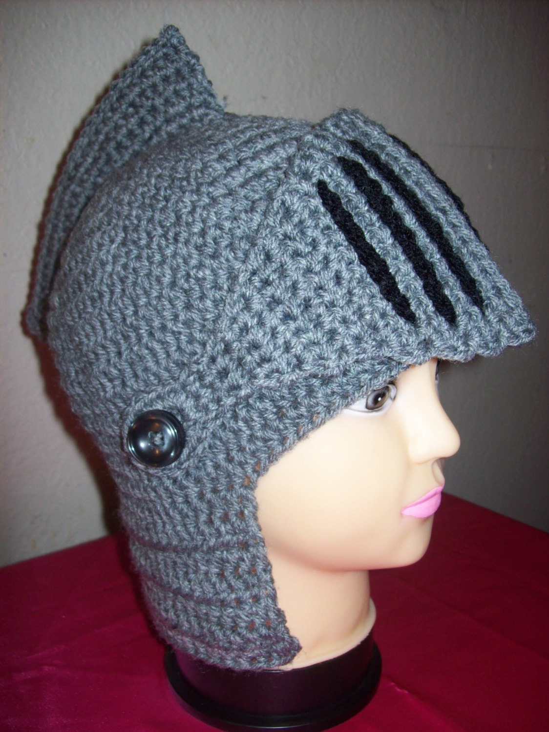 Free Crochet Pattern For Helmet Hat : Crochet Knights Helmet Hat. by robabella on Etsy