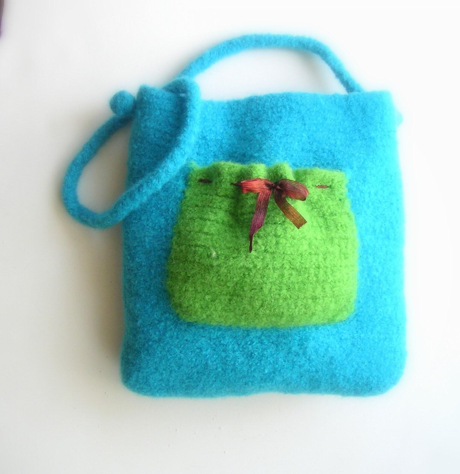 Felted Bag - Yarns, Knitting Patterns, Crochet Patterns