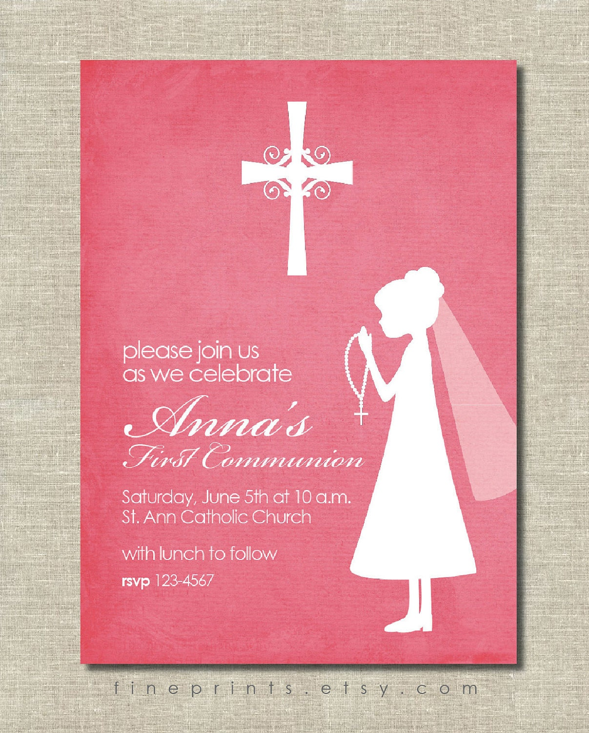 First Holy Communion Invitations with adorable invitation sample