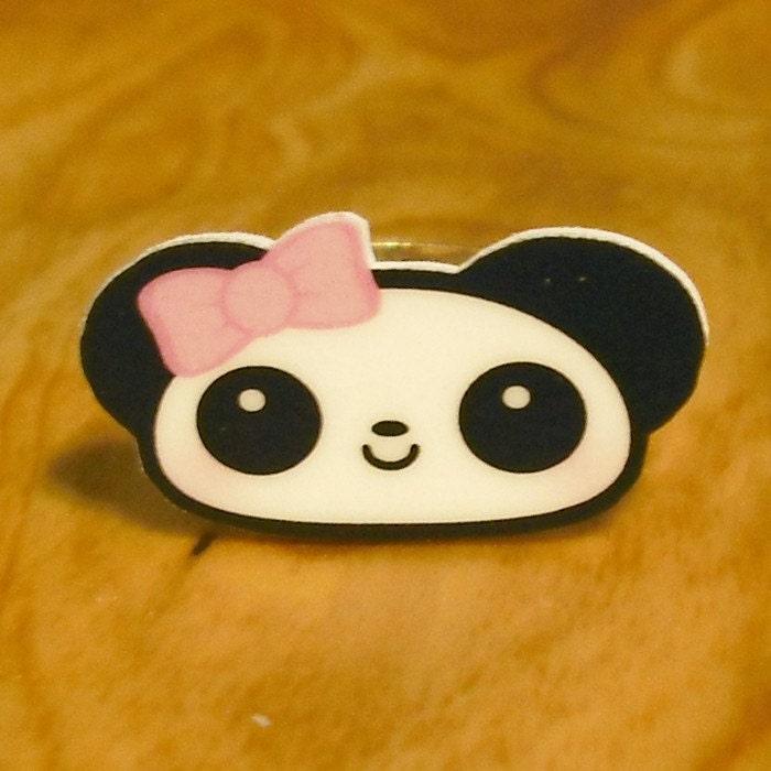 Little Girly Panda Ring