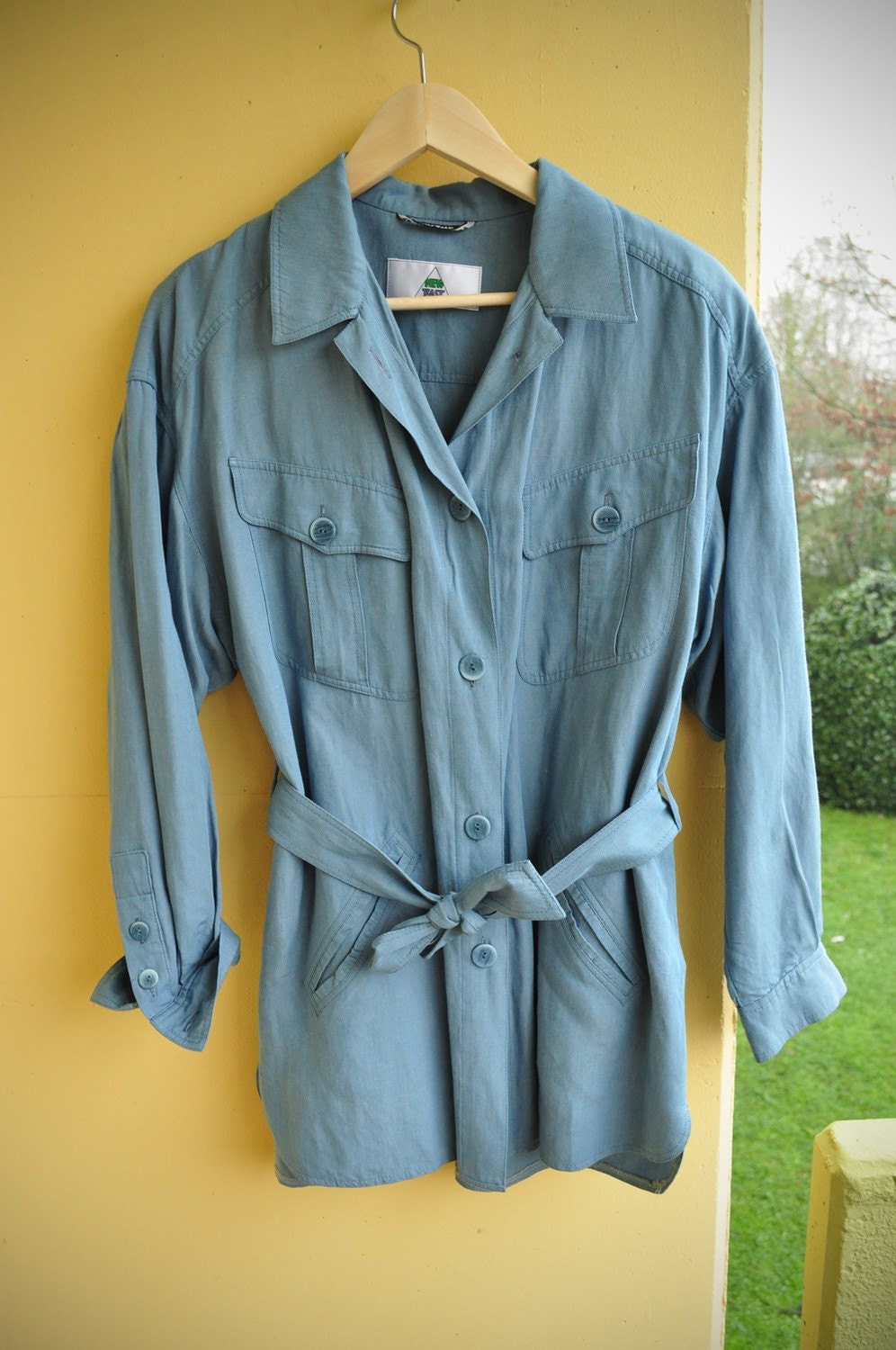Blue denim, long shirt, 1970s, S-L