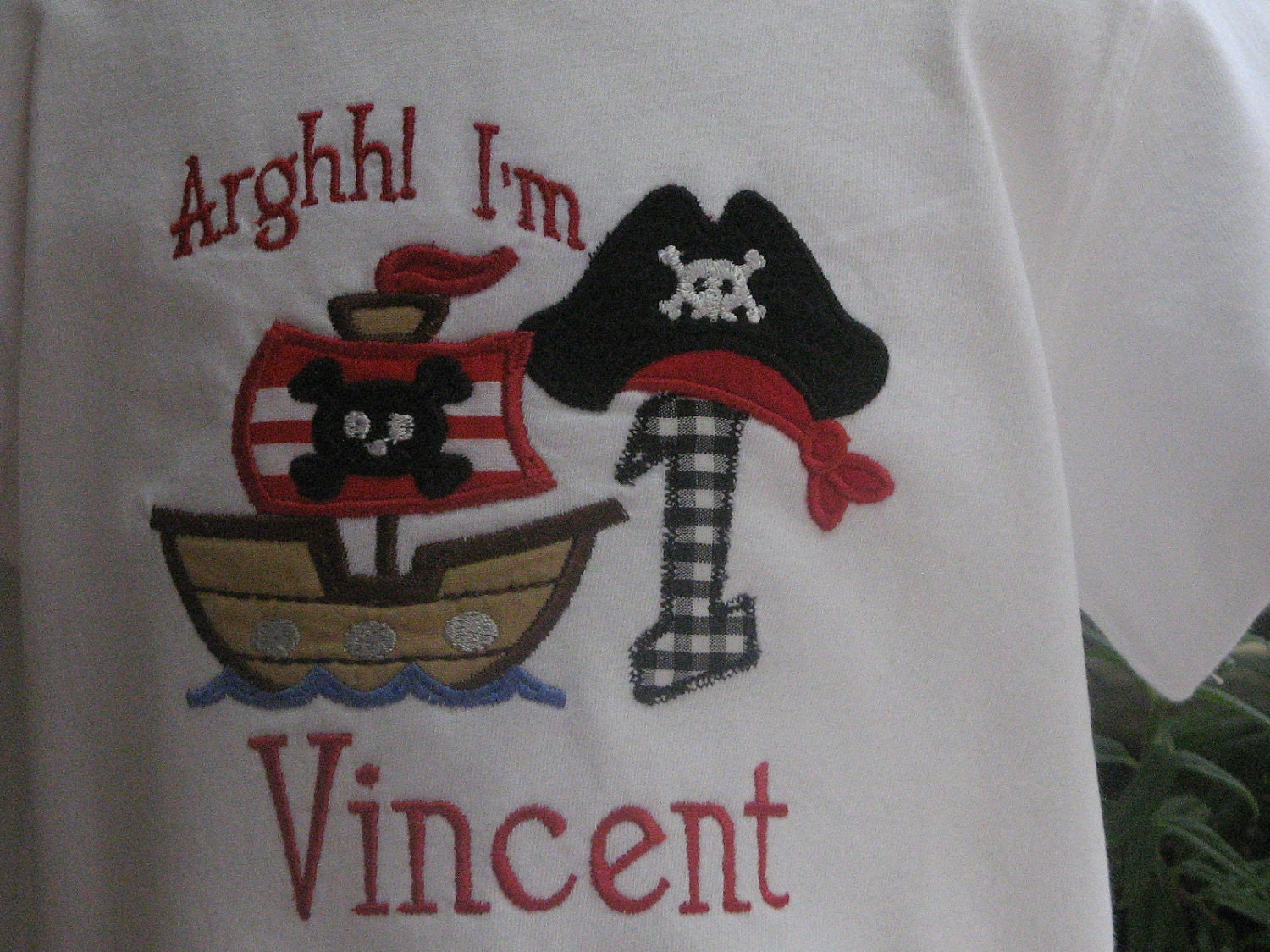 Argh Matey Pirate Theme Birthday Shirt with Free Personalization