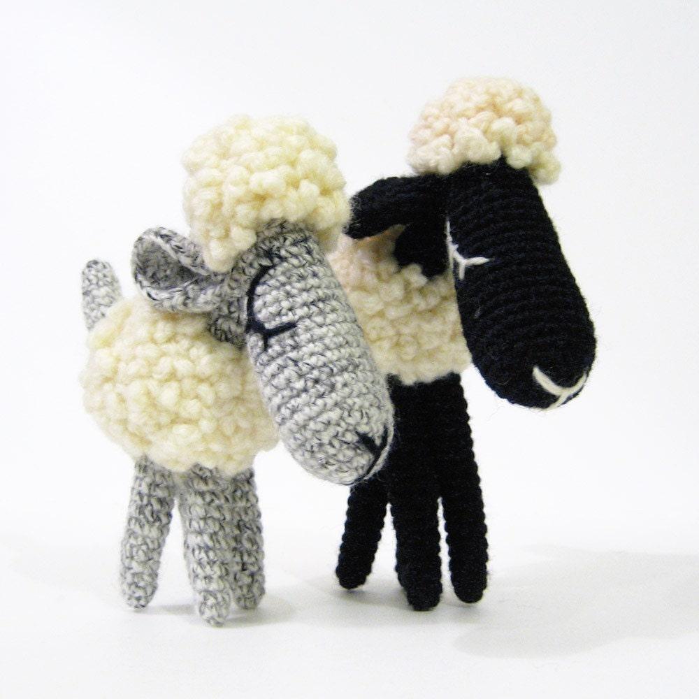 Etsy Amigurumi Sheep : Bob and Daisy The Sheep Amigurumi Pattern by irenestrange ...