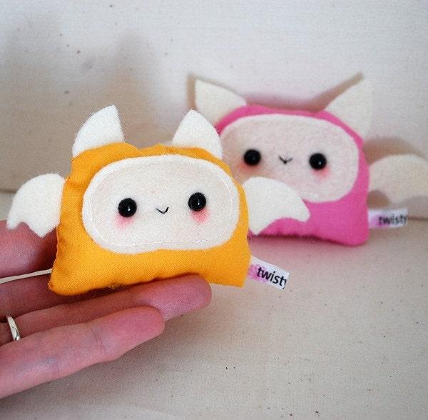 Kawaii Baby Monster Plushies - Pink and Orange