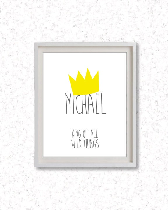 Personalized Where the Wild Things Are - Printable Art / Digital Poster - Custom - King of all Wild Things - JPG z050 - Febystan